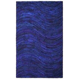 Brilliant Ribbon Blue Wave Rug (4' x 6')