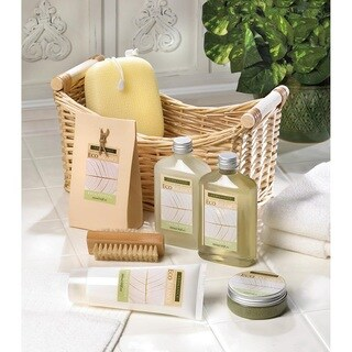 Bath and Body Lemongrass Eucalyptus Scent Gift Set - White