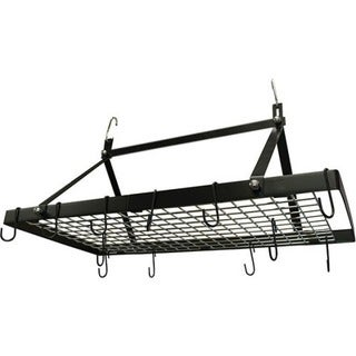 Range Kleen Pot Rack Rectangle Black Enamel