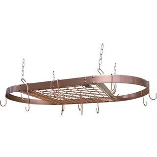 Range Kleen Pot Rack Oval Copper