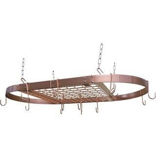 Range Kleen Pot Rack Oval Copper