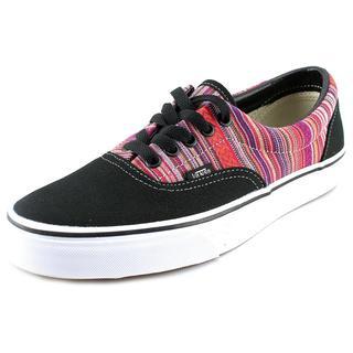 Vans Men's Era Black Canvas Athletic Shoes