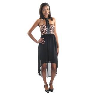 Hadari Women's Strapless Hi-Lo Dress