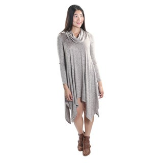 Hadari Women's Long Sleeve Scarf Neck Tunic
