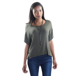 Hadari Women's Short Sleeve Round Neck Shirt