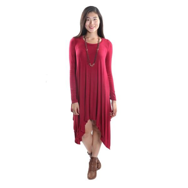5f34578ff229 Hadari Women's Long Sleeve Round Neck Dress - Free Shipping On ...