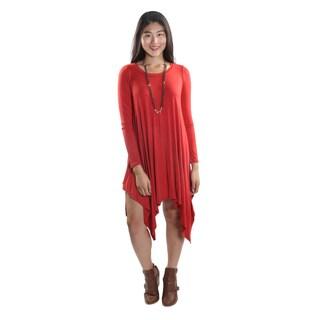 Hadari Women's Long Sleeve Round Neck Dress