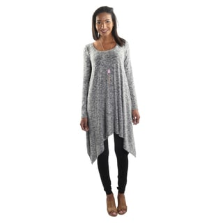 Hadari Women's Long Sleeve Round Neck Tunic
