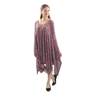 Hadari Women's Long Sleeve Round Neck Tunic