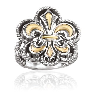 Avanti Sterling Silver and 18K Yellow Gold Fleur-De-Lis Fashion Ring (2 options available)