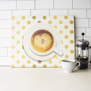 Personalized Espresso Coffee Gallery-wrapped Canvas