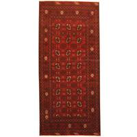 Herat Oriental Afghan Hand-knotted 1960s Semi-antique Tribal Balouchi Wool Runner (2'9 x 6')