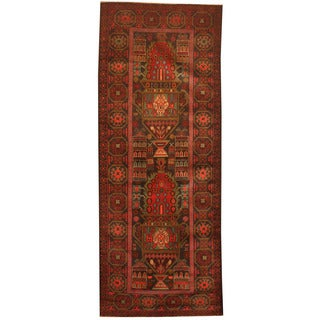 Herat Oriental Afghan Hand-knotted 1960s Semi-antique Tribal Balouchi Wool Runner (2'8 x 6'8)