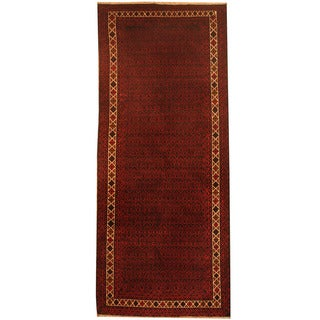 Herat Oriental Afghan Hand-knotted 1960s Semi-antique Tribal Balouchi Wool Runner (2'9 x 6'7)
