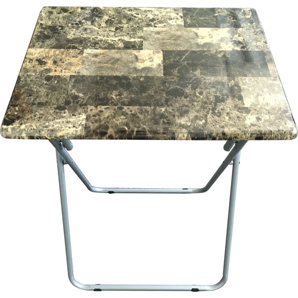 Oversized Wood And Metal Laptop Table: Shop Wee's Beyond Green MDF/Metal Marbleized Oversized TV