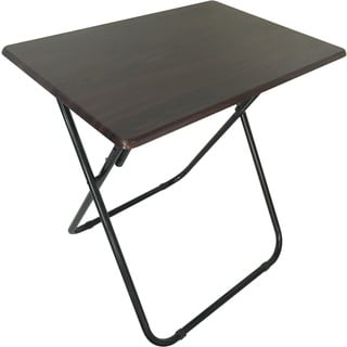 Wee's Beyond Espresso Wood and Metal Oversized TV Folding Tray Table