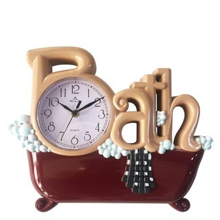 Brown Plastic Bath Wall Clock