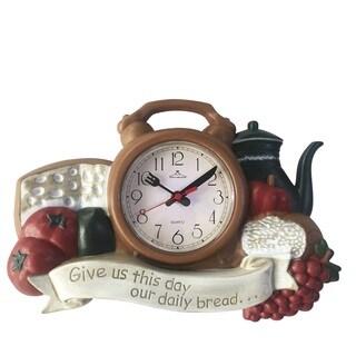 Kitchen Brown Plastic Wall Clock