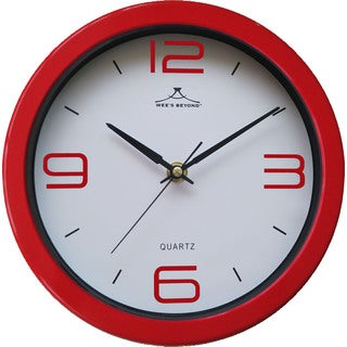 Wee Beyond Colorful Red 9-inch Wall Clock