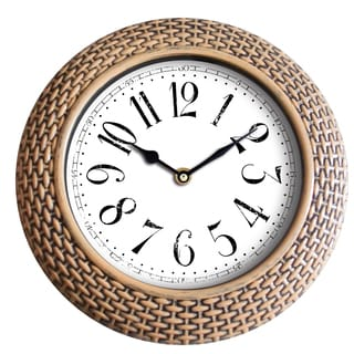 14-inch Woven-like Wall Clock