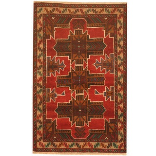 Herat Oriental Afghan Hand-knotted 1960s Semi-antique Tribal Balouchi Wool Rug (2'9 x 4'4)
