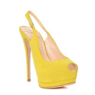 Giuseppe Zanotti Heel Sandal Size 37 in Yellow (As Is Item)