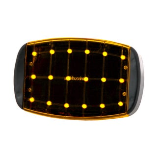 Maxxima Amber Black/Orange Plastic Emergency Flasher Light