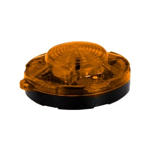 Maxxima Amber 3.50-inch Round Battery Operated Emergency LED Flasher Light