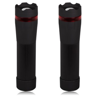Maxxima Black Platic LED Flashlight with Adjustable Beam (Pack of 2)