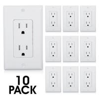 Maxxima 15A White Tamper-resistant Duplex Outlet Receptacles (Pack of 10)