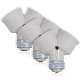 Maxxima Lightbulb Socket Splitter for LED, CFL, and Standard Lightbulbs (Pack of 3)