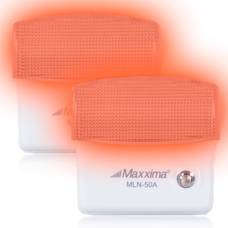 Maxxima Amber LED Night Light with Sensor (Pack of 2)