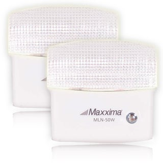 Maxxima 5 LED Warm White Night Light with Sensor (Pack of 2)