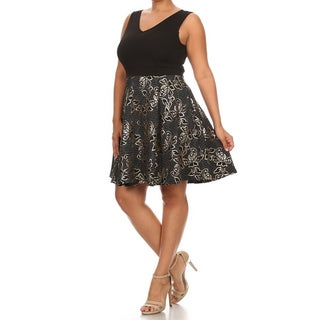 Plus Size Women's Fit & Flare Dress