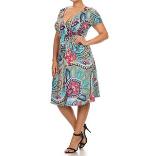 Plus Size Women's Paisley Dress