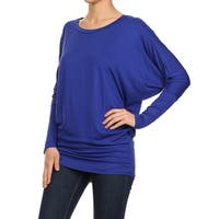 Women's Dolman Rayon/Spandex Solid Top