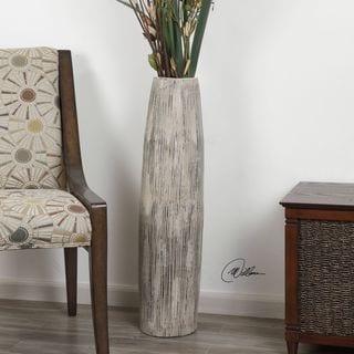 Antonio Aged Ivory Floor Vase