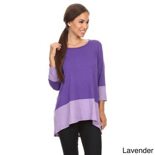 Women's Multicolor Rayon/Spandex Color-block Tunic (3 options available)