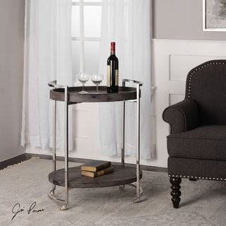 Colin Wooden Serving Cart