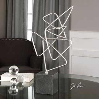 Ercole Twisted Silver Sculpture