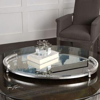 Egidio Mirrored Oval Tray