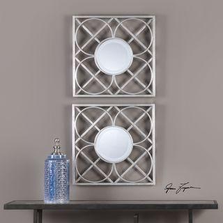 Yasmina Silver Square Mirrors (Set of 2)