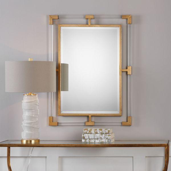 Shop Balkan Modern Gold Wall Mirror Free Shipping Today