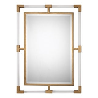 Balkan Modern Gold Wall Mirror - 27.5x37.5x1.375