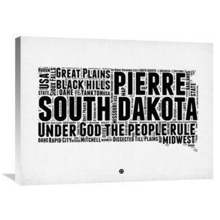 Naxart Studio 'South Dakota Word Cloud 1' Stretched Canvas Wall Art