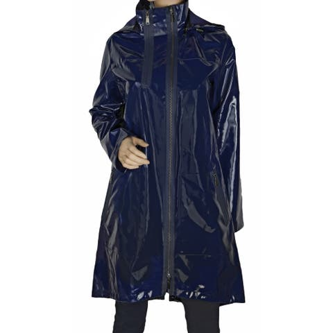 Elie Tahari 'Molly' Navy Blue Trench Coat