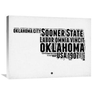 Naxart Studio 'Oklahoma Word Cloud 2' Stretched Canvas Wall Art