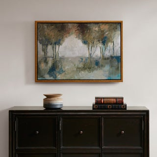 Madison Park Muted Trees At Dusk Multi Framed Canvas