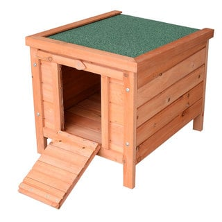 Pawhut Small Wooden Bunny Rabbit/ Guinea Pig House
