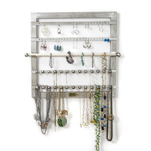 Hives and Honey Silvertone Jewelry Frame - Silver